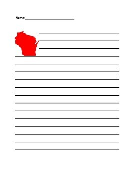 Wisconsin Writing Paper