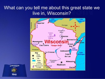 Wisconsin state symbols and flag