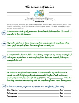 Wisdom Practice Card (Behavior Management)