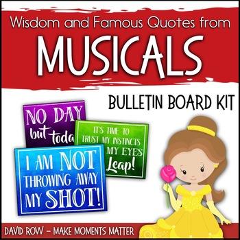 Wisdom from Musicals! - Music Bulletin Board Set