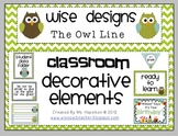 [Wise Designs] Owl Classroom Decorative Elements Pack