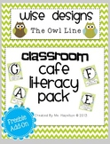 [Wise Designs] The Owl Line Cafe Literacy Pack FREEBIE