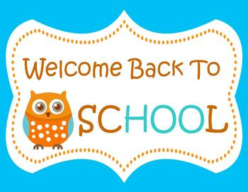 Wise Little Owl Welcome Back to School Sign by Gina Veller ...
