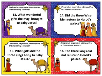 Wise Men (Epiphany) SCOOT: Mixed Language Arts Review