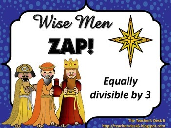 Wise Men (Epiphany) ZAP Equally Divisible by 3 FREEBIE