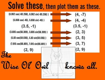 Wise Ol' Owl - Coordinate Graphing Activity with Trig