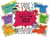 Wise Owl End of Year Class Awards {29 awards + 3 blank templates}