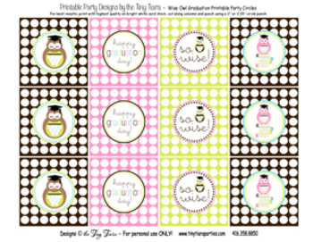 Wise Owl Graduation Printable Labels