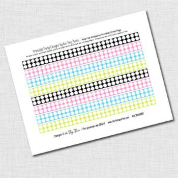 Wise Owl Graduation Printable Straw Flags