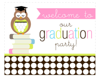 Wise Owl Graduation Printable Welcome/Door Sign
