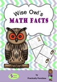 Wise Owl Math Facts Triangles - Facts to 20