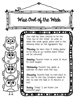 Wise Owl of the Week