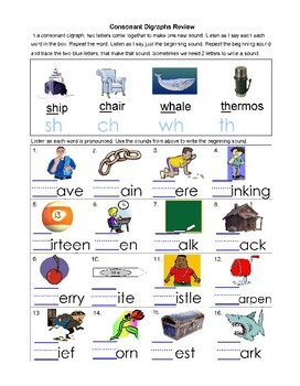 Wise Owl's Consonant Digraphs and Consonant Blends