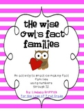Wise Owl's Fact Families {Valentine Math Center}