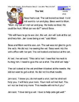 Wise Owl's Vowels Extra Practice Stories