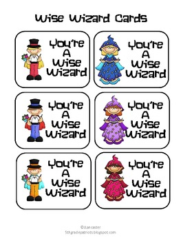 Wise Wizard Cards
