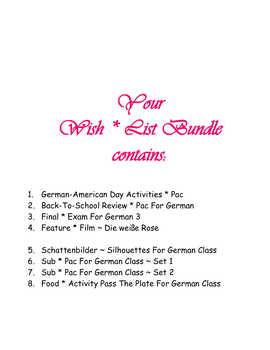 Wish * List Bundle for Christina