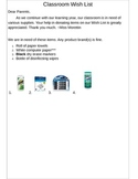 Wish List Parent Note
