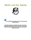 Wish List for Santa Using Common Core Math Standards