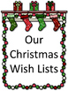 Wish Lists for Christmas:  6 Templates and Bulletin Board Cut Outs
