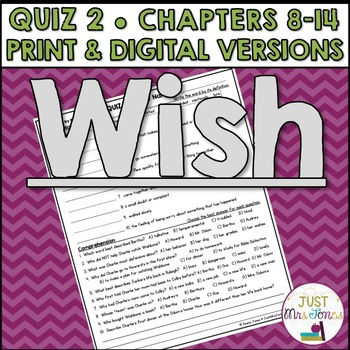 Wish Quiz 2 (Ch. 8-14)