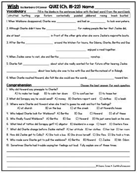 Wish Quiz 3 (Ch. 15-22)