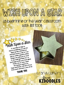 Wish Upon a Star {A Beginning of the Year Classroom Wish List Tool}