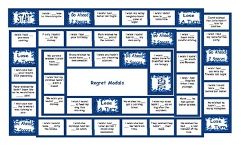 Regret Modals Legal Size Text Board Game
