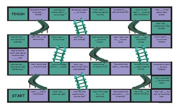 Wish and Modal Verbs of Regret Chutes and Ladders Board Game