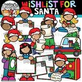 Wishlist for Santa Clipart {Letters to Santa Clipart}