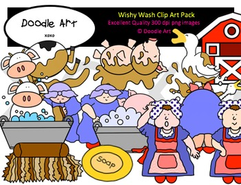 Wishy Wash Clipart Pack