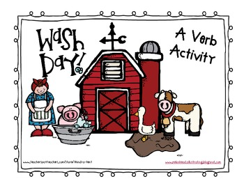 Wishy Washy Verbs {fill in the blank verb activity book}