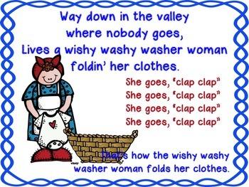 Wishy Washy Washer Woman Song Book
