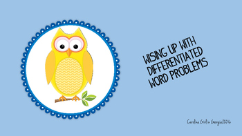 Wising Up with Differentiated Word Problems