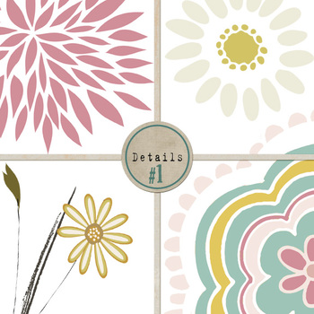 Wispy Floral Clip Art, Flowers, Leaves and Foliage, Mother's Day, Easter