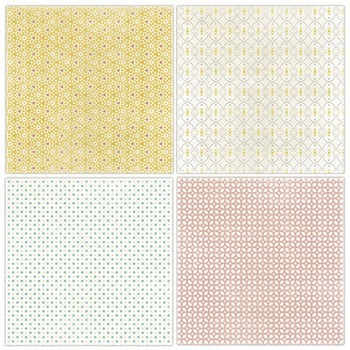 Wispy Patterned Digital Papers, Baby Girl Pastel, Pink, Yellow, Teal