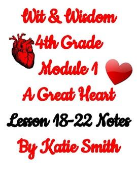 Wit & Wisdom 4th Grade Module 1 Lesson 18-22 Notes