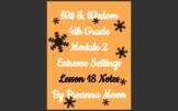 Wit & Wisdom 4th Grade Module 2 Lesson notes L18