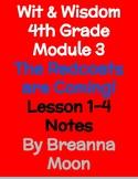 Wit & Wisdom 4th Grade Module 3 Lesson notes 1-4