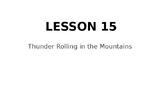 Wit & Wisdom 5th Grade Module 1, Lesson 15