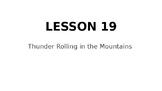 Wit & Wisdom 5th Grade Module 1, Lesson 19