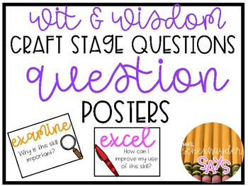 Wit & Wisdom Craft Framing Questions