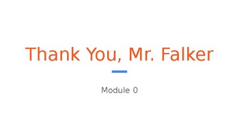 Wit & Wisdom Grade 3 Module 0 Thank You Mr. Falker