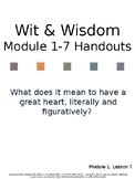 Wit & Wisdom Grade 4 Module 1, Lesson 7 Accompanying Hando