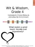 Wit & Wisdom Grade 4, Module 1 Homework Choice Board