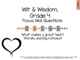 Wit & Wisdom, Grade 4, Module 1 Questions for Classroom Display