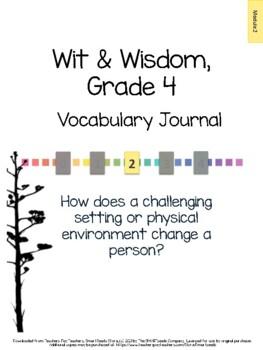 Wit & Wisdom, Grade 4, Module 2 Vocabulary