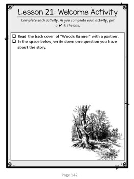 Wit & Wisdom, Grade 4, Module 3 Lessons 21-25 Student Work Packet