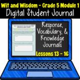 Wit & Wisdom Grade 5 Module 1: Lessons 13 - 16 | Google Sl
