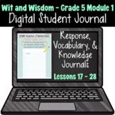 Wit & Wisdom Grade 5 Module 1: Lessons 17 - 28 | Google Sl
